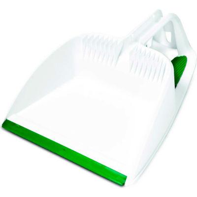 "Libman Commercial 10"" Step-On Dustpan, Green/White - 1150 - Pkg Qty 4"