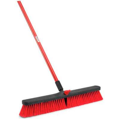 Libman Commercial Push Broom with Resin Block - 24 - Medium-Duty Bristles - 805 - Pkg Qty 4