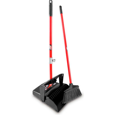 Libman Commercial Lobby Broom & Dust Pan Set - Open Lid - 919 - Pkg Qty 2