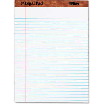 """TOPS® The Legal Pad Rule Perforated Pads 75330, 8-1/2"""" x 11-3/4"""", White, 50 Sheets/Pad, 1/Pack"""