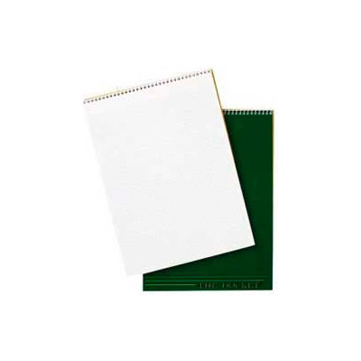 """Tops® Docket Top Wirebound Quadrille Pad, 8-1/2"""" x 11-3/4"""", Quad Ruled, White, 70 Sheets/Pad"""