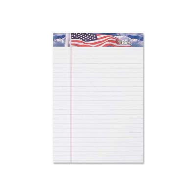 "Tops® American Pride Writing Tablet, 5"" x 8"", Jr. Legal Ruled, White, 50 Sheet/Pad, 3 Pad/Pack"