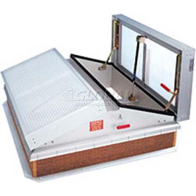 "Bilco® Daylighting Smoke Vent LV-6096B, Double Leaf, Translucent Aluminum, 96""L X 60""W"