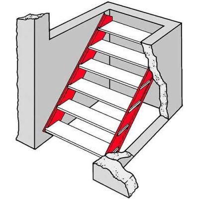 Bilco® Stair Stringers SZ O-SS, 14-Gauge Galvanized Steel, Size O