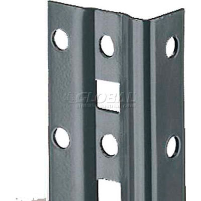 "Tri-Boro Offset Angle Post 1"" x 1-7/8"" x 7'1""H, 1-1/2"" O.C., Dark Gray"