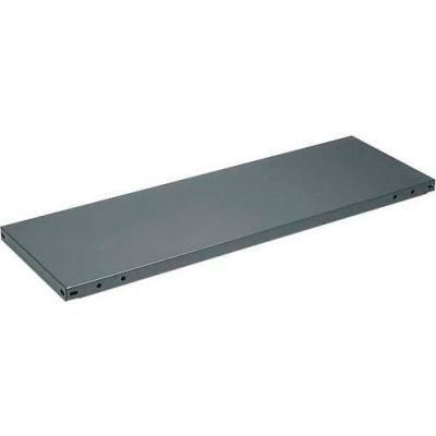 "Tri-Boro Steel Flange Shelf 36""W x 12""D, 20 Gauge , 400 lb Capacity, Perforated, Dark Gray"