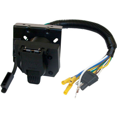 Buyers Products 7-Way Dual-Plug Trailer Connector with 10 Inch Prewired Harness - TC1474P