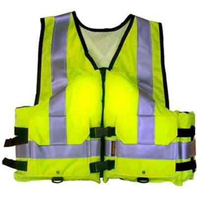 Stearns® Work Zone Gear™ Life Vest, USCG Type III, Hi-Viz Green, Nylon, XL