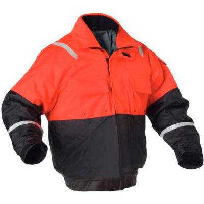 Stearns® Powerboat™ Flotation Jacket, USCG Type III, Orange/Black, Nylon, XL