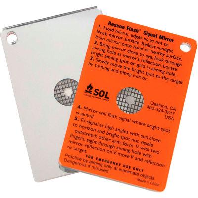 Survive Outdoors Longer® Rescue Flash Signal Mirror, 0140-1003