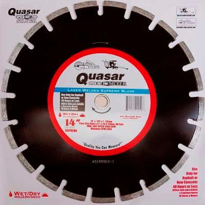 "14"" Quasar Speed-Kut 200 ""Silver"" Segmented Diamond Blade"