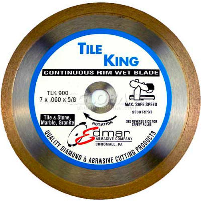 "Edmar 7"" Super Continuous Rim Wet Saw Blade"
