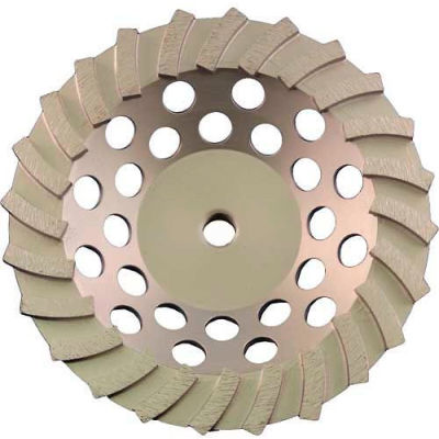 "Edmar Abrasive Company 00869A Segmented Turbo Cup Grinding Wheel 7"" x 5/8""-11 Diamond"