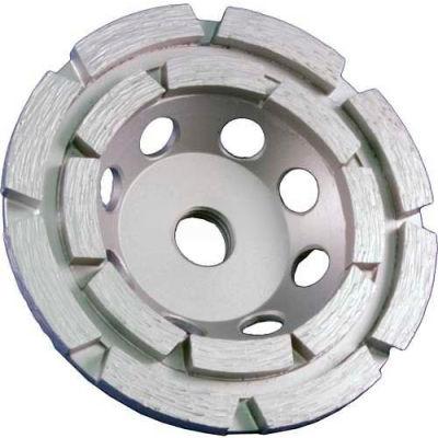 "Edmar Abrasive Company 00873S Double Rim Cup Grinding Wheel 4"" x 5/8""-11 Diamond"