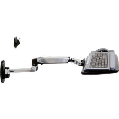 Ergotron® LX Wall Keyboard Arm, Polished Aluminum