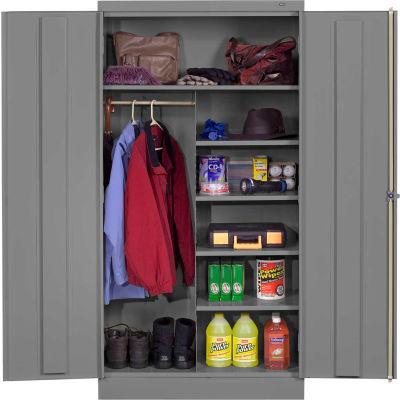 "Tennsco Standard Welded Combination Cabinet 36""W x 18""D x 72""H Medium Grey"