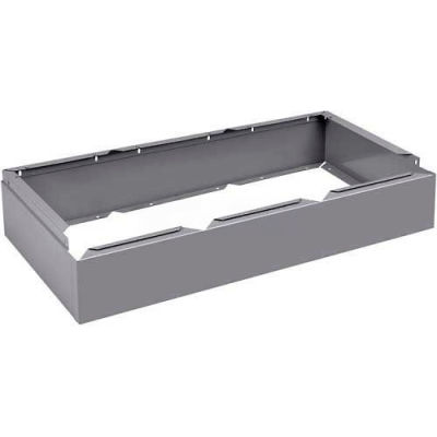 "Tennsco Closed Locker Base CLB-3615-MGY - For 12""W X 15""D Locker No Legs 3 Wide, Medium Grey"