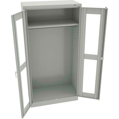 "Tennsco C-Thru Standard Wardrobe Cabinet CVD7114-LGY - Welded 36""W X 18""D X 72""H, Light Grey"