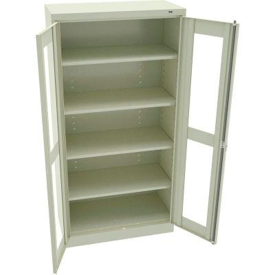 """Tennsco C-Thru Standard Storage Cabinet CVD7218-CPY - Welded 36""""W X 18""""D X 72""""H, Champagne Putty"""