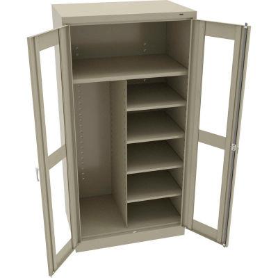 "Tennsco C-Thru Standard Combination Cabinet CVD7220-SND - Welded 36""W X 24""D X 72""H, Sand"