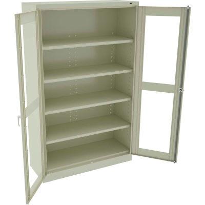 "Tennsco C-Thru Jumbo Storage Cabinet CVDJ2478SU-CPY - Welded 48""W X 24""D X 78""H, Putty"