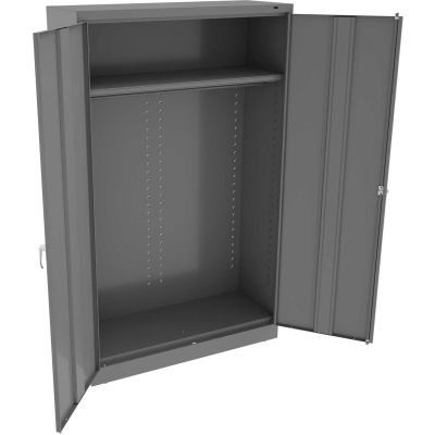 "Tennsco Welded Jumbo Wardrobe Cabinet 48""W x 24""D x 78""H Medium Grey"