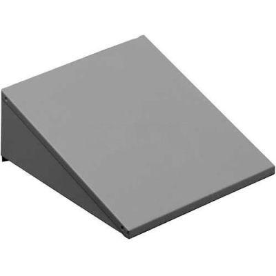 """Tennsco Sloping Locker Top KST-1212-LGY - For1 Wide Locker 12""""W X 12""""D, Light Grey"""
