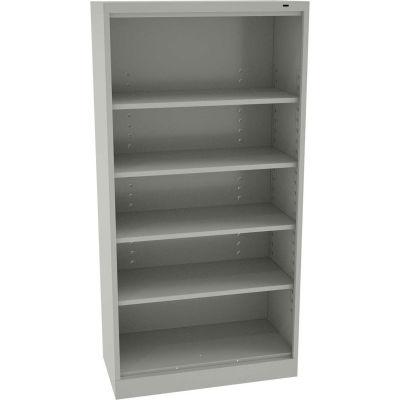 """Tennsco Standard Welded Open Storage Cabinet 36""""W x 24""""D x 72""""H Light Gray"""