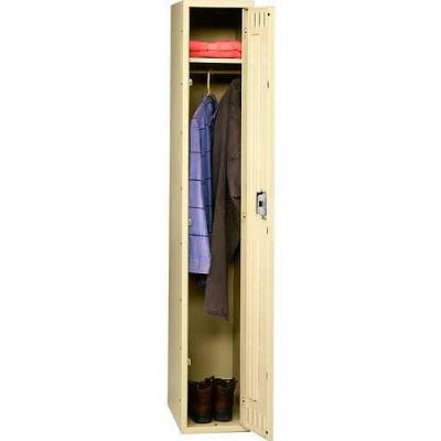 Tennsco Steel Locker STK-121860-A-BLK - Single Tier No Legs 1 Wide 12x18x60 Unassembled, Black
