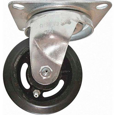"Fairbanks Medium Duty Swivel Caster 23-3-RT - Rubber Mold-On 3"" Dia. - 170 Lb. Capacity"
