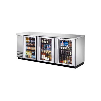 "True® TBB-4G-S Back Bar Cooler 3 Section - 90-3/8""W X 27-3/4""D X 37""H"