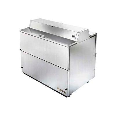 "True® TMC-49-S-DS-SS-HC Mobile Milk Cooler 12 Crates Dual Sided - 49""W X 33-3/8""D"
