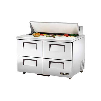 "True® TSSU-48-12D-4 Sandwich/Salad Unit - 48-3/8""W X 30-1/8""D X 36-3/4""H"