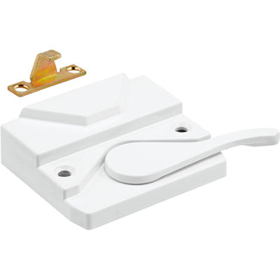 Prime Line TH 23098 Sash Lock & Keeper, L.H., White