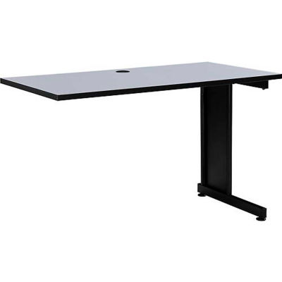 """Interion® 48"""" Right Handed Return Table, Gray"""