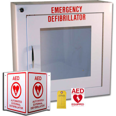 First Voice™ AED Surface Mount Storage & Labeling Kit, Alarmed