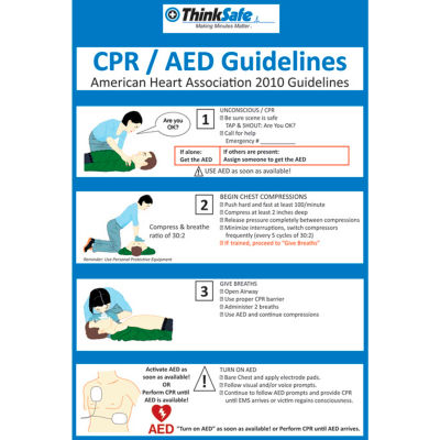 "First Voice™ CPR/AED Poster Set, 11"" X 17"", 2/Pack"