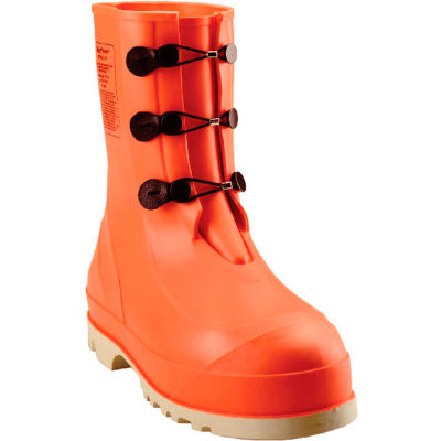 Tingley® 82330 HazProof® Steel Toe Boots, Orange/Cream, Sure Grip Outsole, Size 11