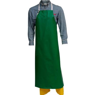 "Tingley® A41008 SafetyFlex® PVC/Polyester Apron, 38"" x 48"", Green, Medium"