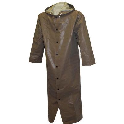 "Tingley® C12168 Magnaprene™ Storm Fly Front Hooded Coat, Green, 60"", 3XL"