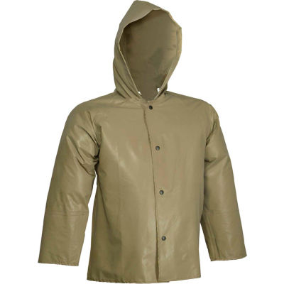 Tingley® J12148 Magnaprene™ Hooded Jacket, Green, Inner Cuffs, Large