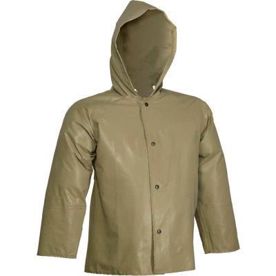 Tingley® J12148 Magnaprene™ Hooded Jacket, Green, Inner Cuffs, Small
