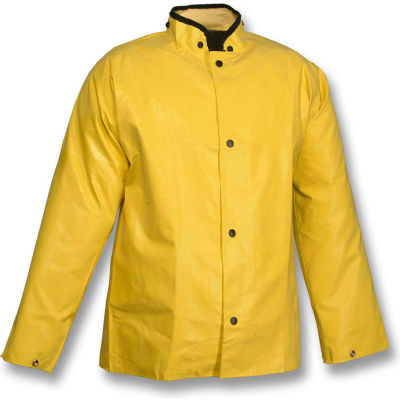 Tingley® J12207 Magnaprene™ Storm Fly Front Jacket, Yellow, Hood Snaps, 4XL