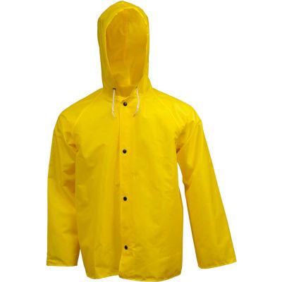 Tingley® J21107 Eagle™ Storm Fly Front Hooded Jacket, Yellow, Medium