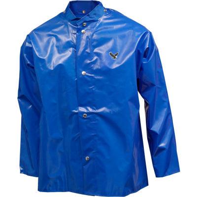 Tingley® J22201 Iron Eagle® Storm Fly Front Jacket, Blue, Hood Snaps, Medium