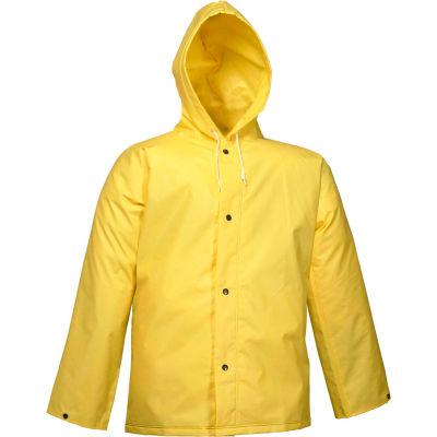 Tingley® J56107 DuraScrim™ Storm Fly Front Hooded Jacket, Yellow, Medium