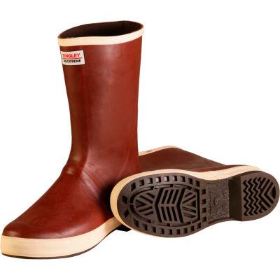 Tingley® MB920B Dipped Neoprene Snugleg Boots, Brick Red/Brown, Size 5