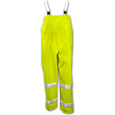 Tingley® O53122 Comfort-Brite® Snap Fly Front Overall, Fluorescent Lime, 5XL
