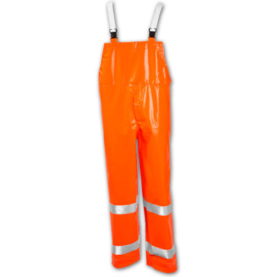 Tingley® O53129 Comfort-Brite® Snap Fly Front Overall, Fluorescent Orange, XL