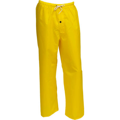 Tingley® P21107 Eagle™ Snap Fly Front Pants, Yellow, Drawstring Waist, Medium